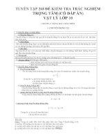 Tuyển tập 268 đề trắc nghiệm trọng tâm (có đáp án) môn Vật lý lớp 10