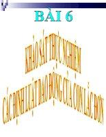 bài giảng bài 6 thực hành khảo sát thực nghiệm các định luật dao động của con lắc đơn - vật lý 12 - gvh.t.minh