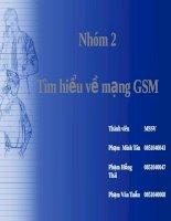 Bài tập nhóm: Tìm hiểu về mạng GSM