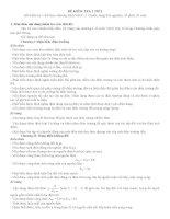 Ma trận đề kiểm tra một tiết HKI VL 11- Chuẩn