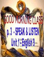 EL9-Unit 1-Speak and Listen
