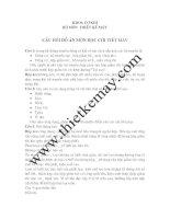 Câu hỏi bảo vệ đồ án Thiết Kế Máy và đồ án Chi Tiết Máy