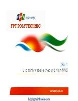 Bài giảng PHP MySQL nâng cao FPT