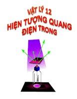 bài giảng vật lý 12 bài 31 hiện tượng quang điện trong