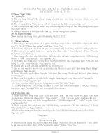 đề cương ôn tập học kì 2 Van 10