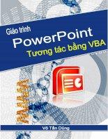 xây dựng bài trình chiếu tương tác bằng powerpoint