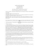 TCVN 2694:2007  SẢN PHẨM DẦU MỎ  PHƯƠNG PHÁP XÁC ĐỊNH  ĐỘ ĂN MÒN ĐỒNG BẰNG PHÉP THỬ TẤM ĐỒNG