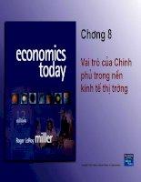 Slide bài giảng mô hình kinh tế - Vai trò của chính phủ trong nền kinh tế thị trường