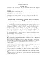 TCVN 2698 : 2007 SẢN PHẨM DẦU MỎ  PHƯƠNG PHÁP XÁC ĐỊNH THÀNH PHẦN CẤT Ở ÁP SUẤT KHÍ QUYỂN