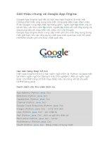 giới thiệu và hướng dẫn sử dụng google app engine [công nghệ điện toán đám mây]