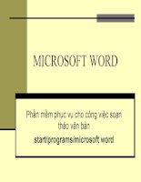 slide bài giảng tin học đại cương nguyễn quốc hùng chương 3 microsoft word