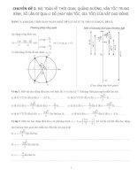 Chuyên đề 2 : Bài toán về thời gian, quãng đường, vận tốc trung bình, số lần đi qua li độ (hay vận tốc, gia tốc) của vật dao đọng