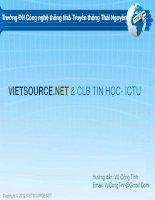 tài liệu học lập trình web HTML căn bản  đại học công nghệ và truyền thông thái nguyên