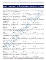 Chuyên đề LTĐH môn Hóa học: Định luật tuần hoàn (phần 2)