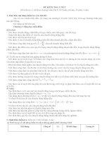 Ma trận đề kiểm tra một tiết HKI VL 10- Chuẩn