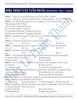 Luyện thi ĐH môn Hóa học 2015: Định luật tuần hoàn (phần 1)  Thầy Lê Phạm Thành