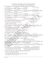 bài tập trắc nghiệm sinh học 10 đầy đủ các chương các bài