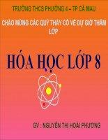 giáo án bồi dưỡng thao giảng hoá học lớp 8 bài 13 phản ứng hoá học (2)