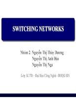 Báo cáo môn Mạng truyền dữ liệu SWITCHING NETWORKS