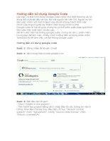 Hướng dẫn cài đặt và sử dụng google code tiện ích