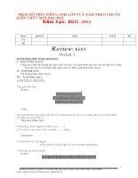 giáo án Tiếng anh 9 cả năm chuẩn 2011-2012