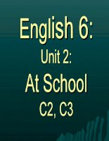 Unit 2: At school: C2-3