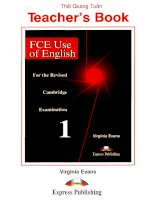 Skills for FCE - Use of English - Teacher''''s Edition