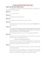 Tuyển tập đề thi đáp án Học sinh giỏi Ngữ văn 7