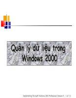 Quản lý dữ liệu trong window 2000