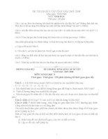 tài liệu ôn thi học sinh giỏi môn sinh học 9 đề thi và đáp án sưu tầm các năm