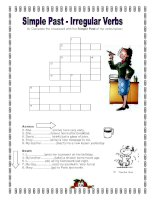 simple past irregular verbs crossword