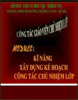 XAY DUNG KE HOACH CHU NHIEM LOP