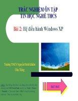 Trắc Nghiệm Tin Học Nghề THCS Bài 2