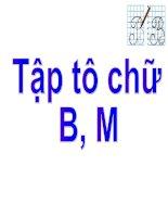 tập tô  chữ B-M