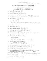 127 phương trình lượng giác trong bộ đề tuyển sinh đại học