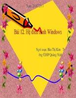 BAI 12 HE DIEU HANH WINDOWS