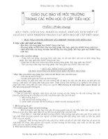 NỘI  DUNG TICH HỢP BVMT CÁC MÔN  LỚP 1 - 5