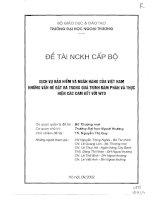 Dịch vụ bảo hiểm và ngân hàng của Việt Nam những vấn đề đặt ra trong quá trình đàm phán và thực hiện các cam kết với WTO