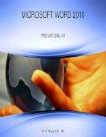 bài giảng microsoft word 2010 võ hà quang định
