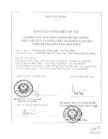 Nghiên cứu xây dựng đồng bộ hệ thống tiêu chuẩn xây dưng Việt Nam đến năm 2010 theo hướng đổi mới, hội nhập