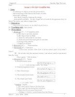 Giáo án Tiếng Anh 8 (11-12)