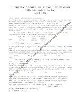 Hướng dẫn giải chi tiết Đề thi DH A năm 2011 môn Hóa