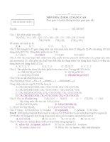 tổng hợp bộ đề thi môn hóa học lớp 12