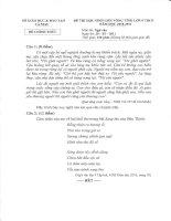 Đề Thi HSG Ngữ Văn 9 tỉnh Cà Mau năm 2011