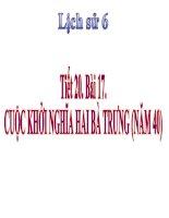 bài giảng lịch sử 6 bài 17 cuộc khởi nghĩa hai bà trưng (năm 40)