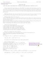 Chuyên đề đặt ẩn phụ giải phương trình và hệ phương trình vô tỷ