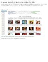 4 WEBSITE LỒNG ẢNH TRỰC TUYẾN ĐỘC ĐÁO