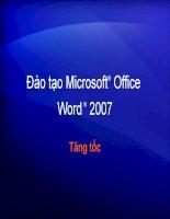 Tài liệu tự học word 2007 toàn tập