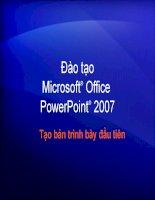 Tài liệu tự học powerpoint 2007 toàn tập