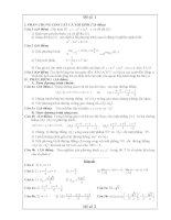 60 đề thi thư tốt nghiệp và đáp án